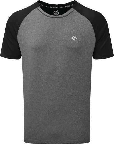 Šedé pánské funkční tričko s krátkým rukávem Dare 2b