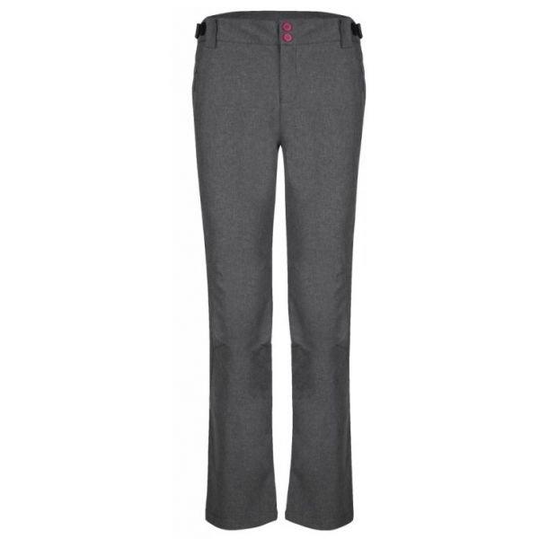 Šedé softshellové dámské kalhoty Loap - velikost L