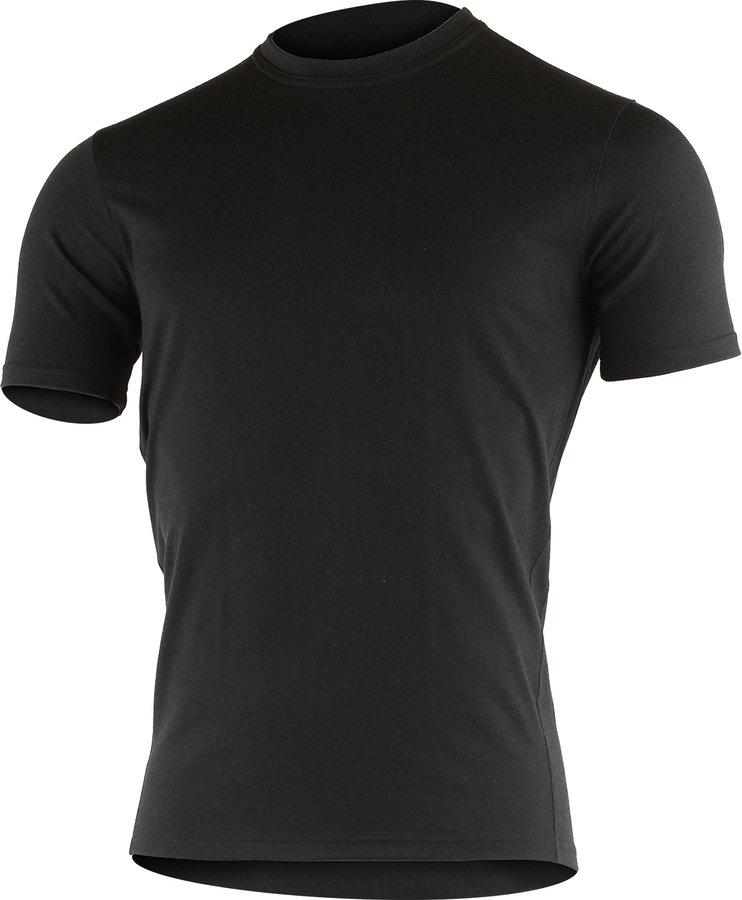 Černé pánské tričko s krátkým rukávem Lasting - velikost M