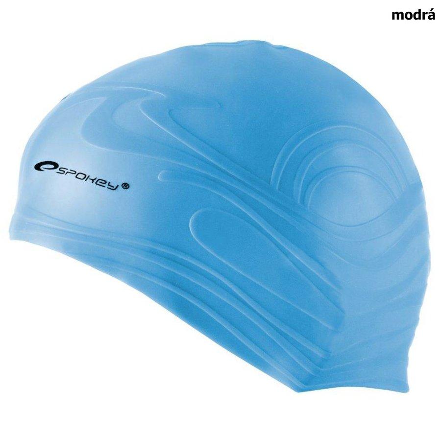 Modrá dámská nebo pánská plavecká čepice SHOAL, Spokey