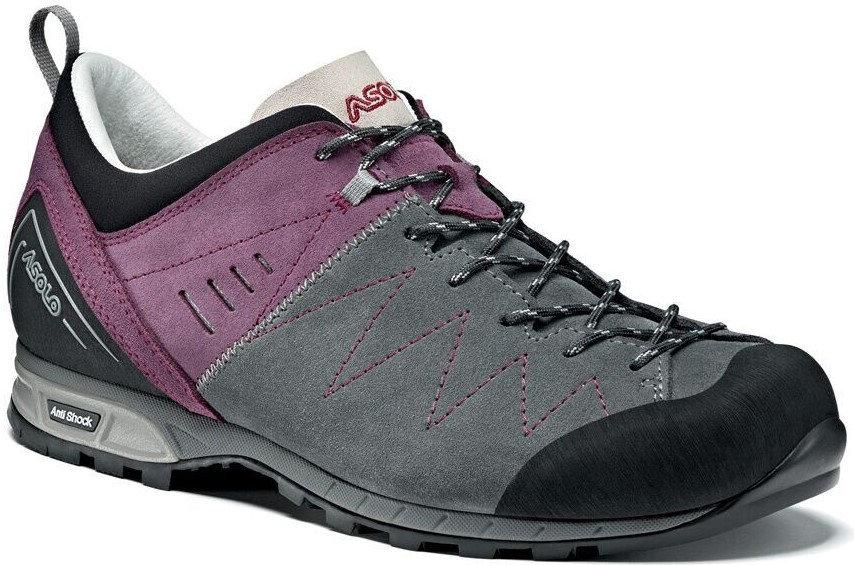 Fialovo-šedé voděodolné dámské trekové boty - obuv ASOLO - velikost 38 2 3  EU 2ab061515bf