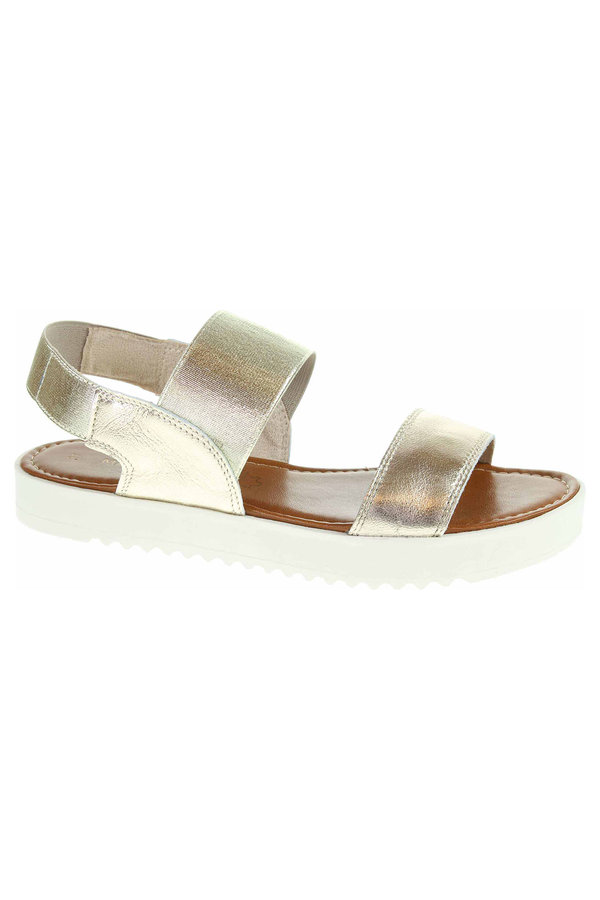 Zlaté sandály Marco Tozzi