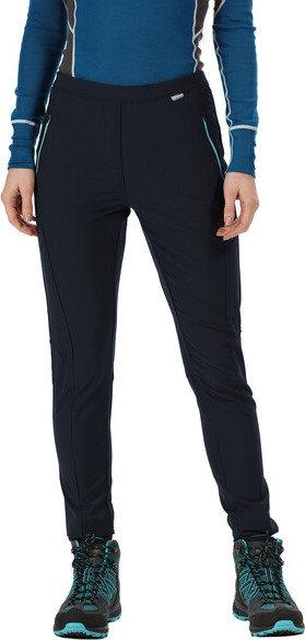 Modré dámské turistické kalhoty Regatta - velikost 42