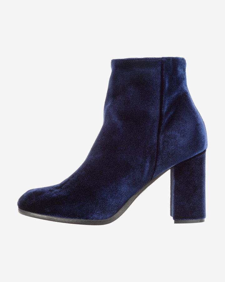 Modré dámské kotníkové boty Silvian Heach - velikost 36 EU
