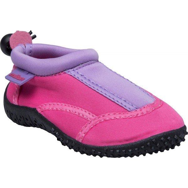 Fialovo-růžové dívčí boty do vody Miton