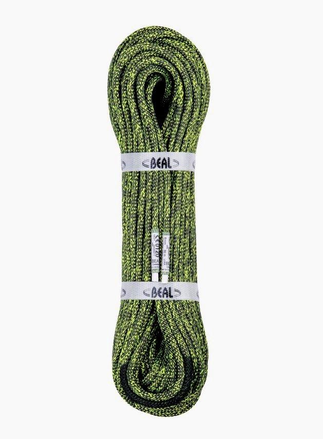 Zelené horolezecké lano Beal - průměr 5 mm a délka 40 m
