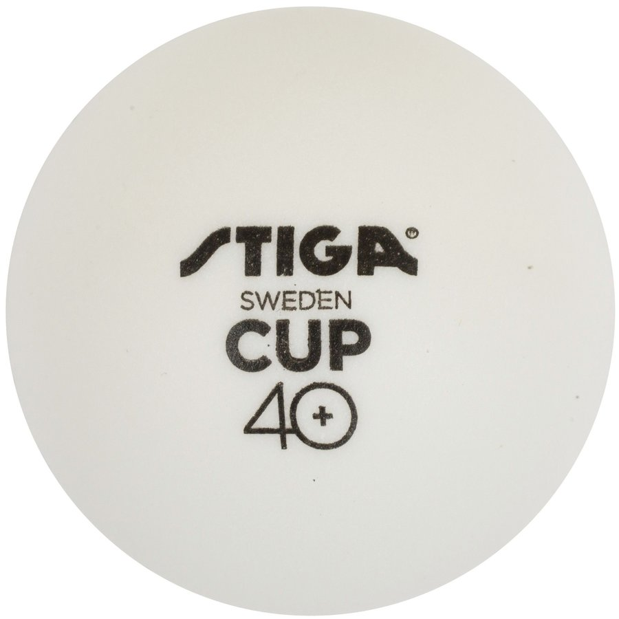 Bílý míček na stolní tenis Stiga - 6 ks