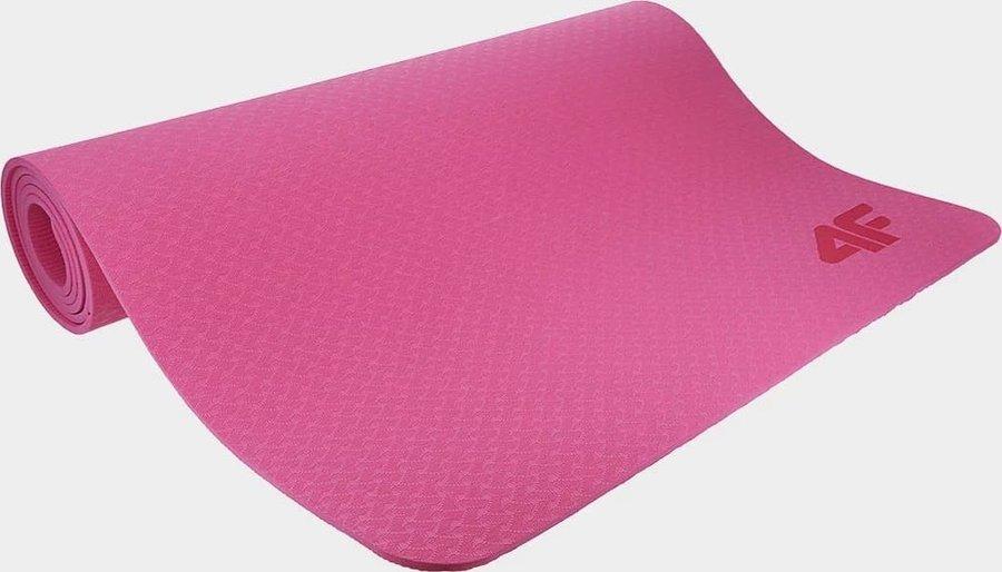 Růžová podložka na jógu 4F