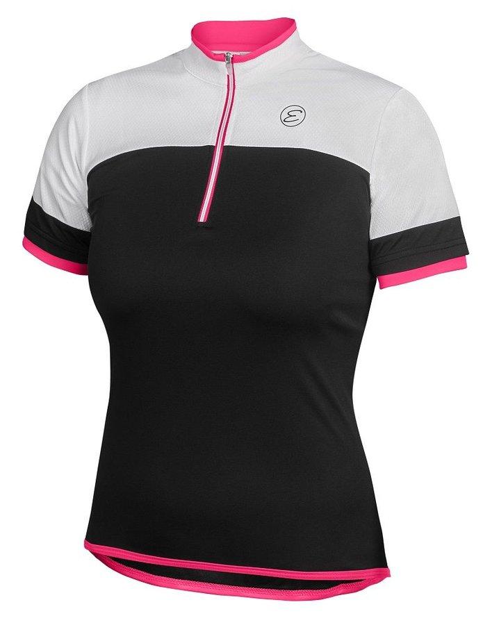 Bílo-černý dámský cyklistický dres Etape - velikost S