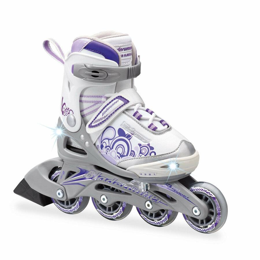 Fialovo-stříbrné dětské kolečkové brusle Bladerunner - velikost 28-32 EU