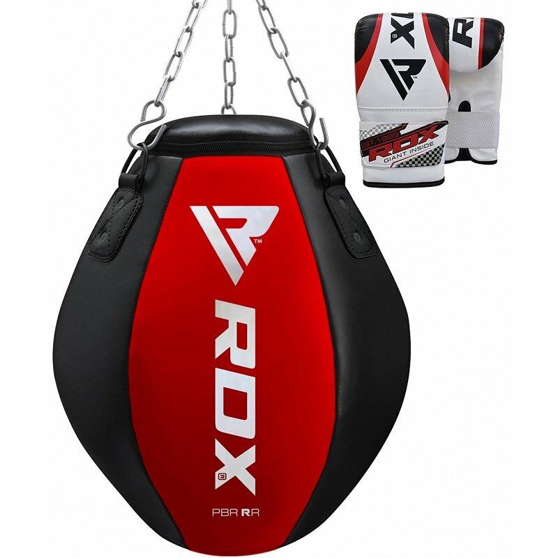 Černo-červená závěsná boxovací hruška RDX - 30 kg