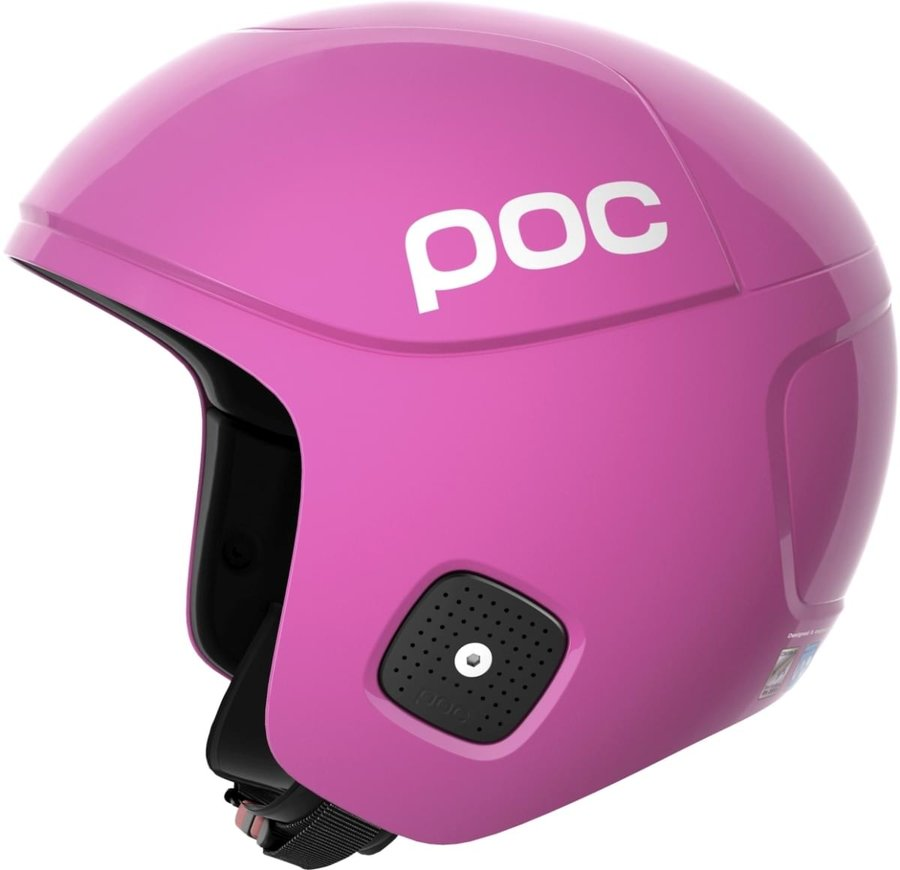 Růžová dámská helma na snowboard POC - velikost 53-54 cm