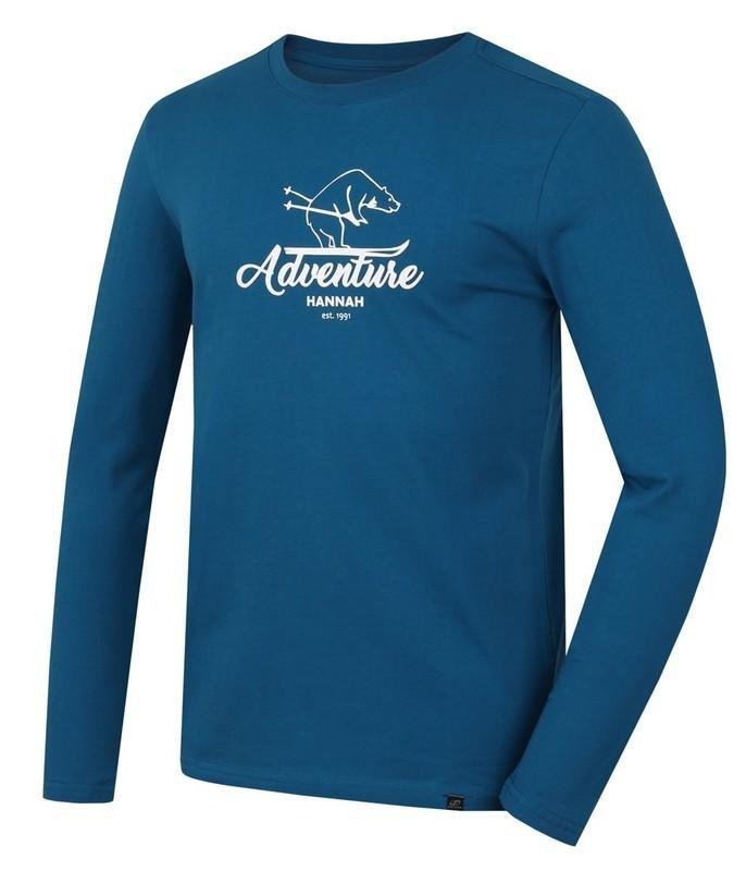 Modré pánské tričko s dlouhým rukávem Hannah