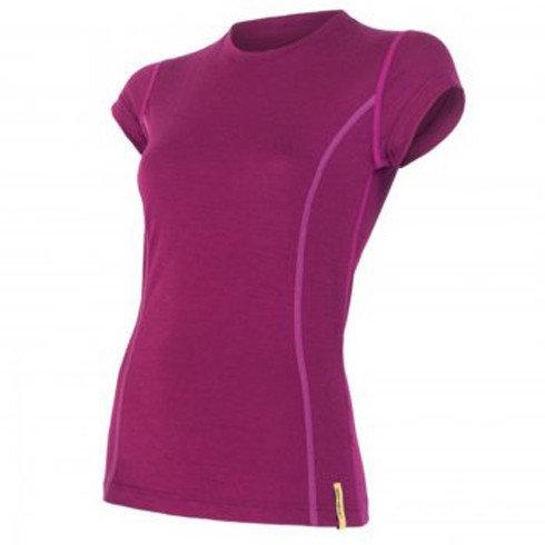 Fialové dámské funkční tričko s krátkým rukávem Sensor - velikost XL