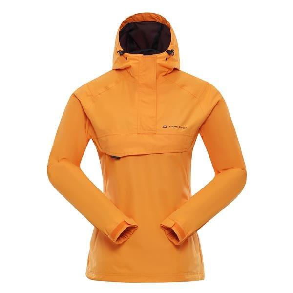 Oranžová dámská turistická bunda Alpine Pro - velikost XS