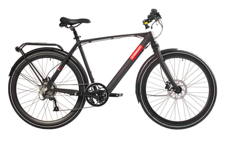 Černé trekingové pánské elektrokolo T55e, S-bikes