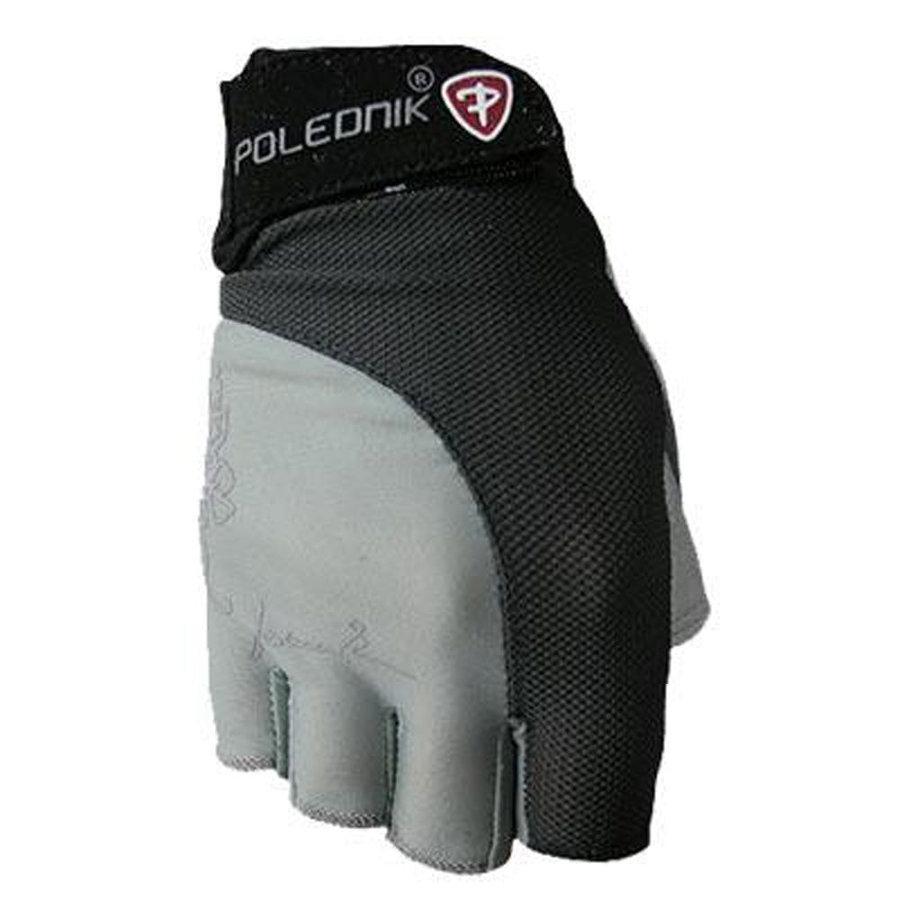 Černo-šedé dámské fitness rukavice Polednik