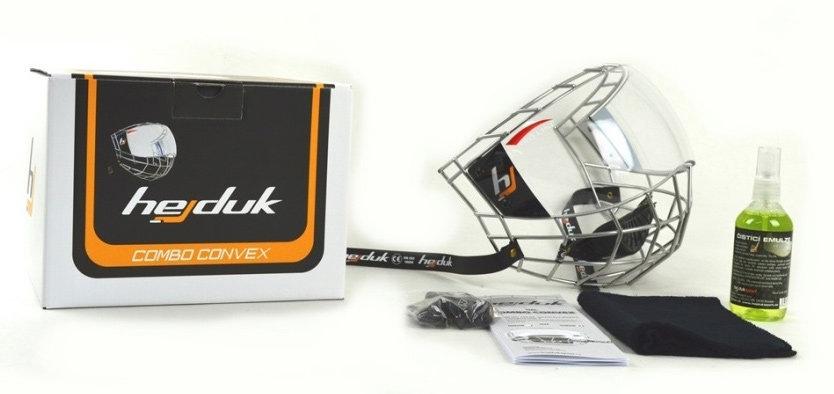 Plexi na hokejovou helmu - Uniplexi Hejduk Combo Convex Velikost: Junior