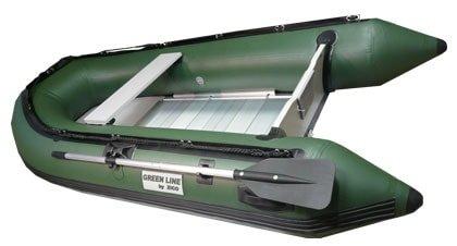Zelený nafukovací člun s motorem pro 4 osoby GL290, ZICO
