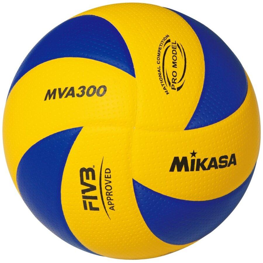 Modro-žlutý volejbalový míč MVA 300, Mikasa - velikost 5