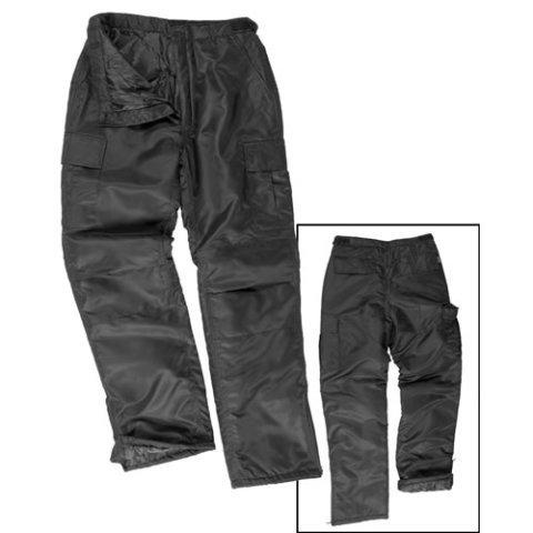 Kalhoty - Kalhoty US MA1 THERMO zateplené ČERNÉ