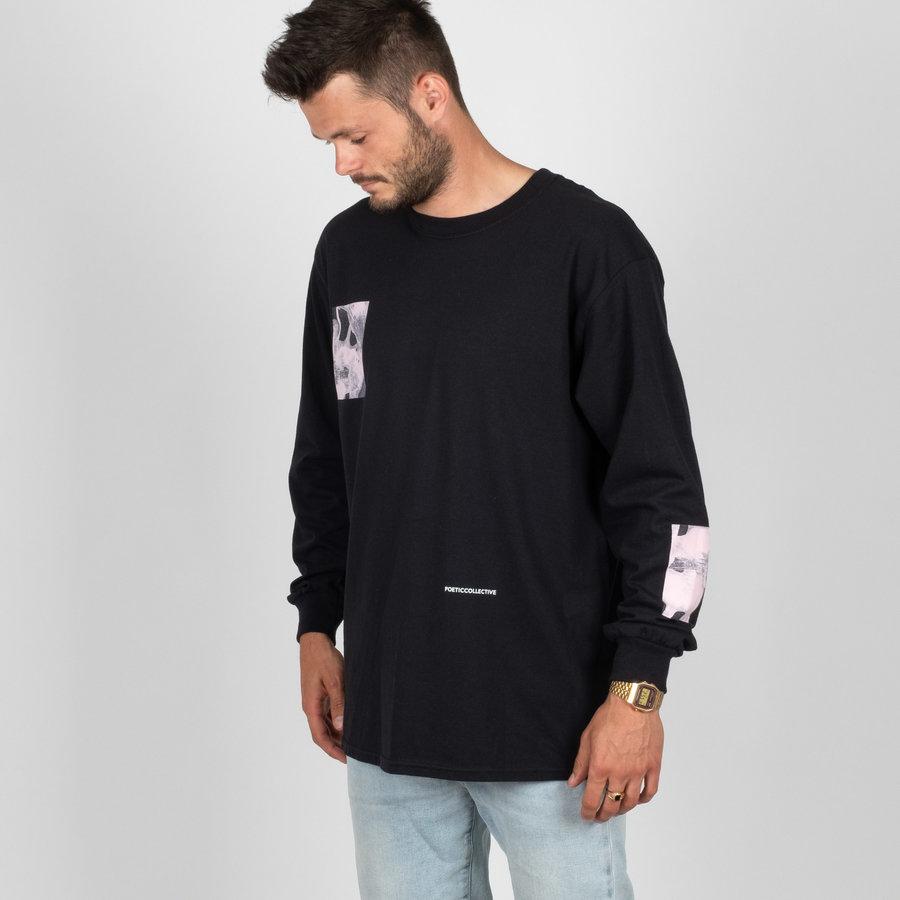 Černé pánské tričko s dlouhým rukávem Poetic Collective - velikost M