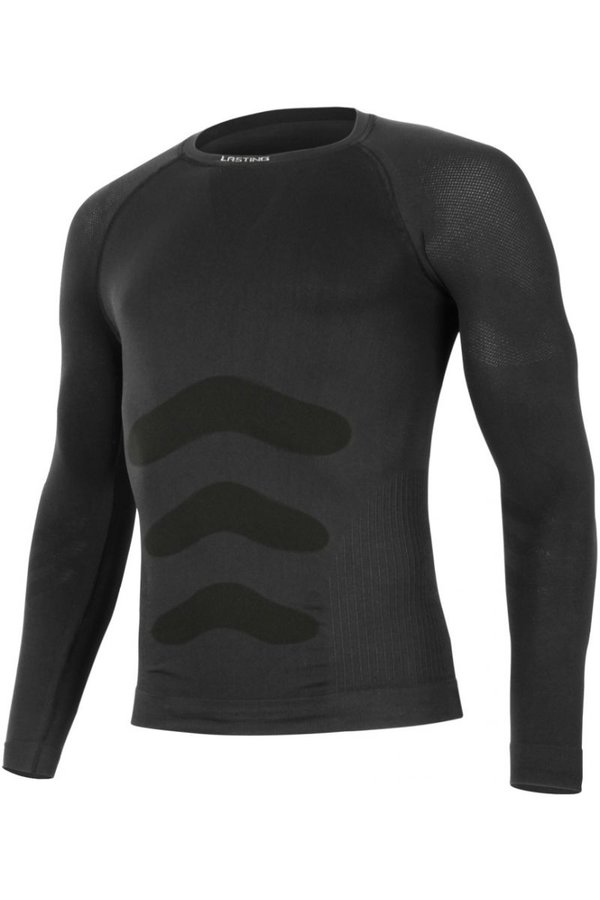 Černé pánské termo tričko s dlouhým rukávem Lasting - velikost XS