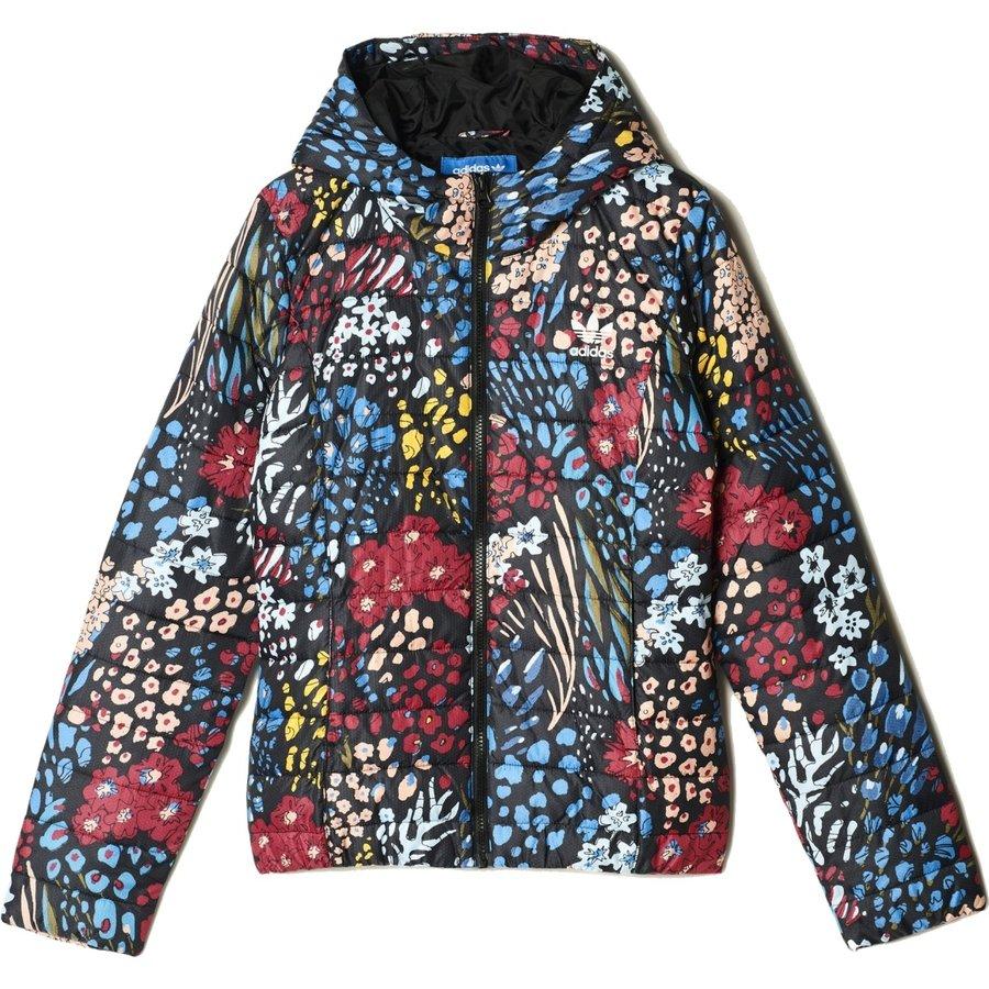 Modrá zimní dámská bunda Adidas
