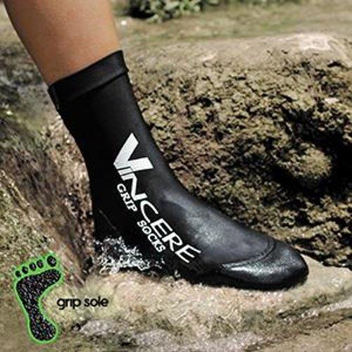 Černé unisex neoprenové ponožky Megaform, Grip - velikost L