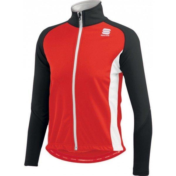 Černo-červená dětská bunda na běžky Sportful - velikost M