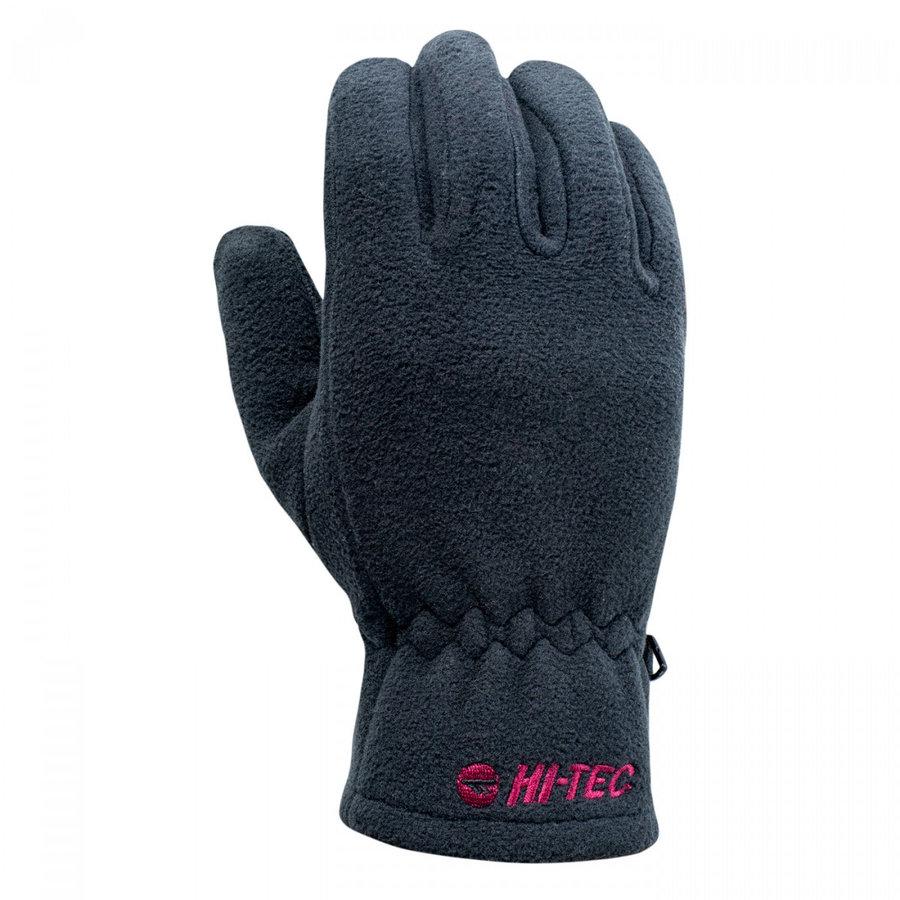 Černé dámské zimní rukavice Hi-Tec - velikost S-M