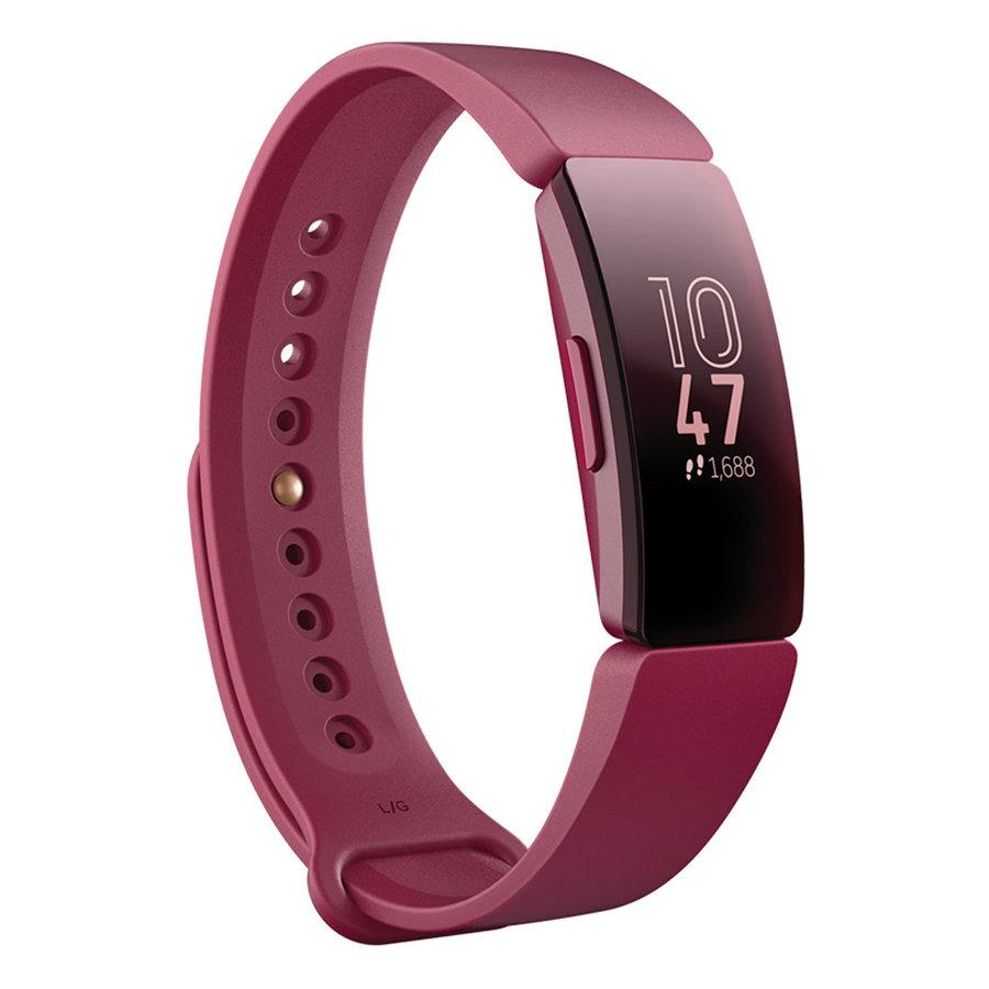 Červený fitness náramek Inspire, Fitbit