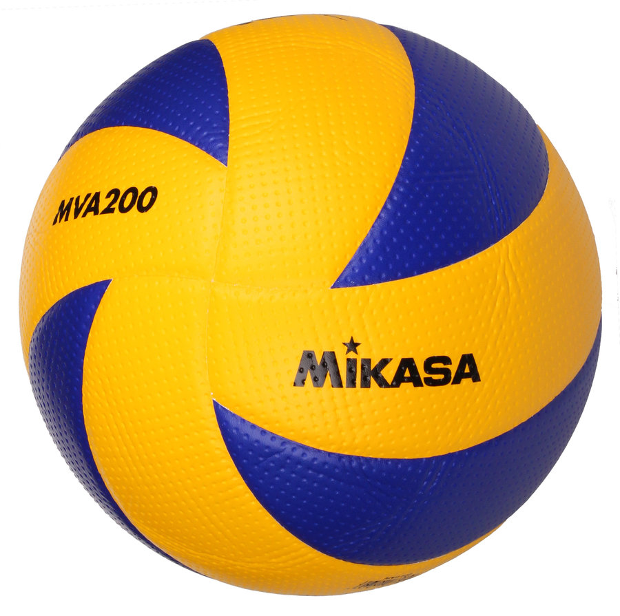 Modro-žlutý volejbalový míč MVA 200, Mikasa - velikost 5