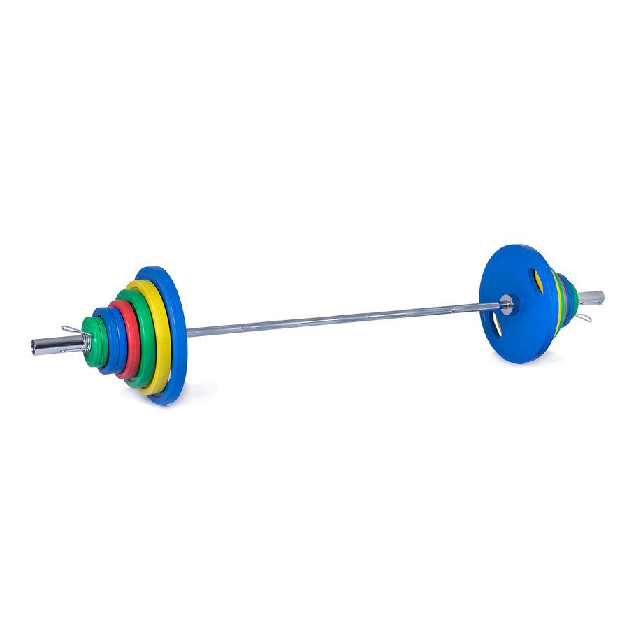 Činkový set - Trinfit Olympijská činka pogumovaná 135 kg
