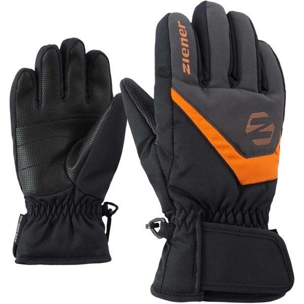 Černé chlapecké lyžařské rukavice Ziener