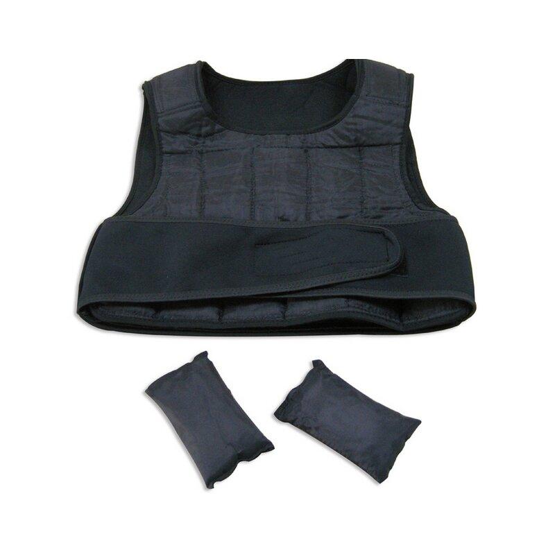 Černá zátěžová vesta SPARTAN SPORT - 10 kg