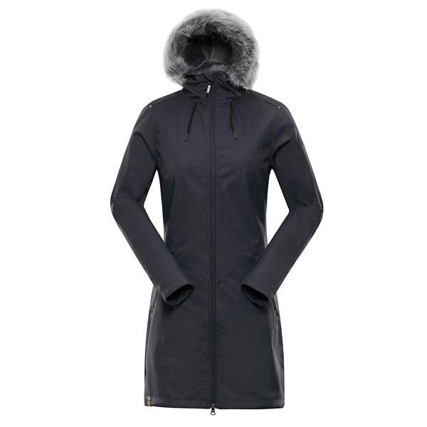 Černý nepromokavý dámský kabát Alpine Pro - velikost XS