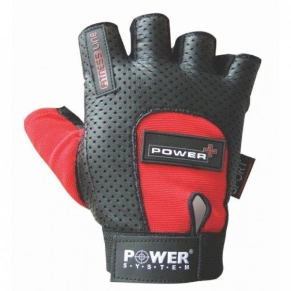 Černo-červené pánské fitness rukavice Power System