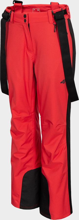 Červené dámské lyžařské kalhoty 4F - velikost S
