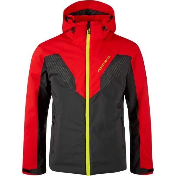 Černo-červená pánská lyžařská bunda Fischer