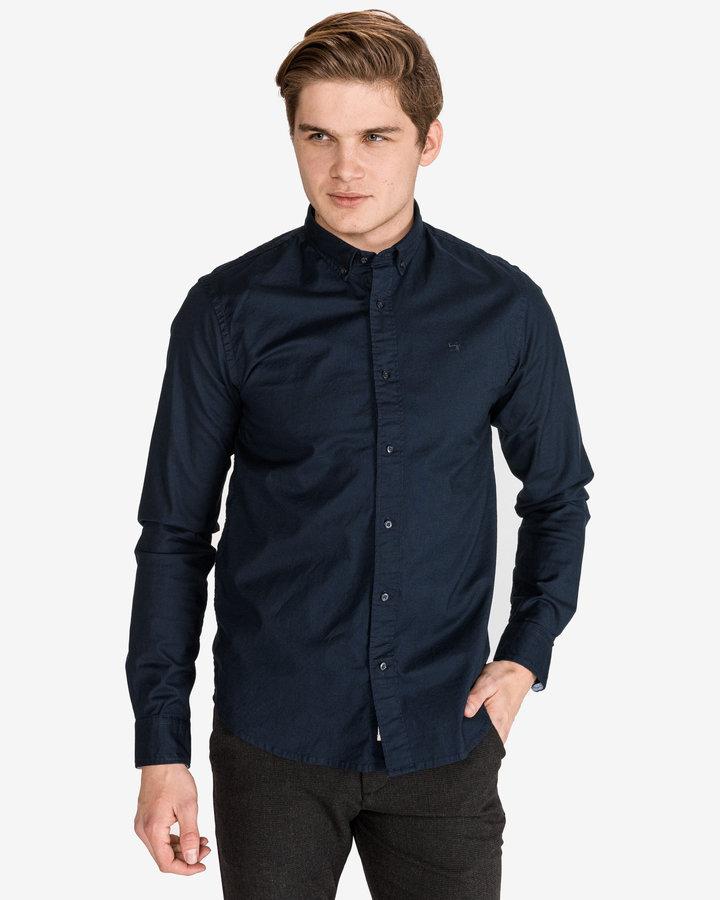 Modrá pánská košile s dlouhým rukávem Scotch & Soda - velikost S