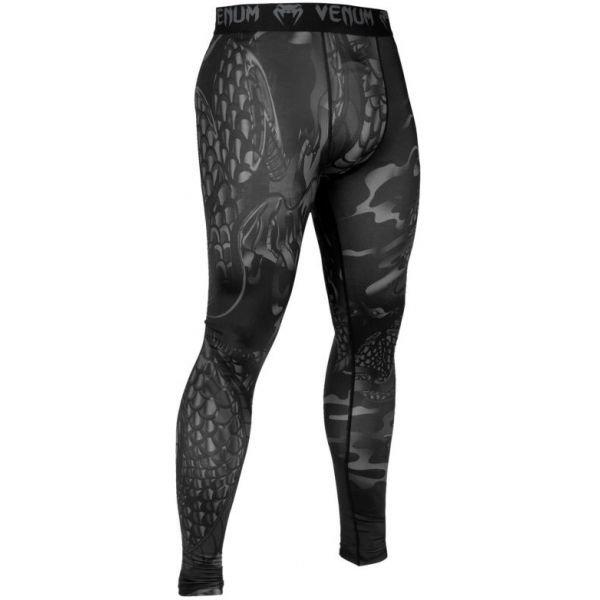 Černo-šedé fitness pánské legíny Venum