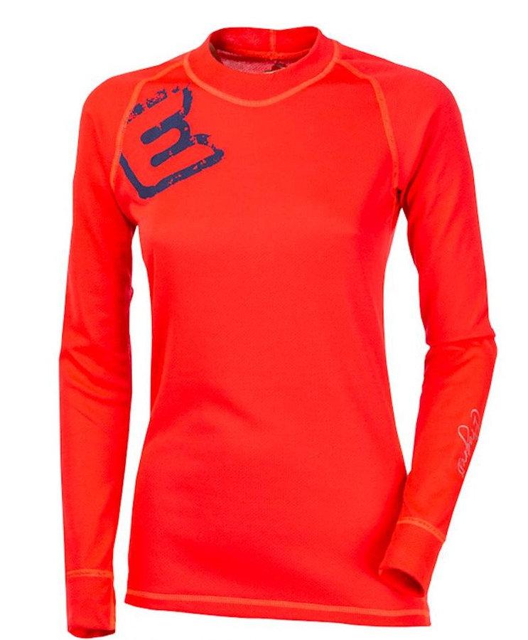 Červené dámské funkční tričko s dlouhým rukávem Progress - velikost S