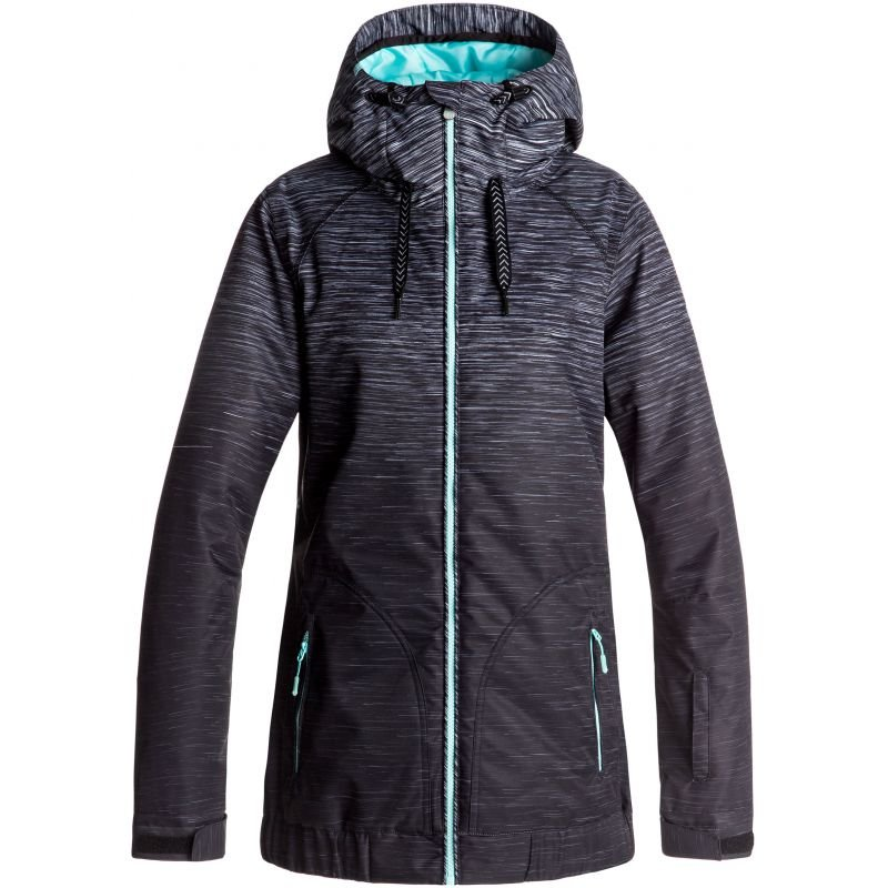 Černo-šedá dámská snowboardová bunda Roxy - velikost L