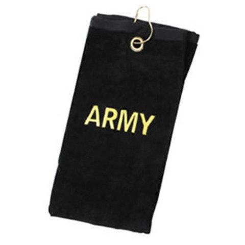 Ručník - Ručník malý 40x57cm s nápisem ARMY ČERNÝ