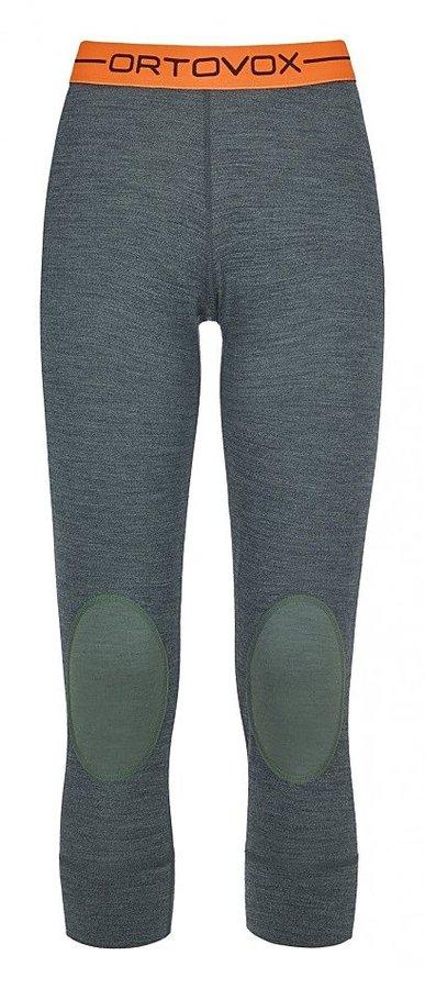 Šedé 3/4 dámské termo kalhoty Ortovox