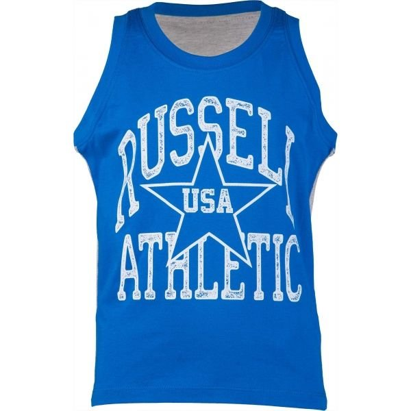 Modré chlapecké tílko Russell Athletic - velikost 128