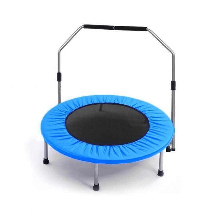 Kruhová fitness trampolína s madlem Sedco - průměr 100 cm