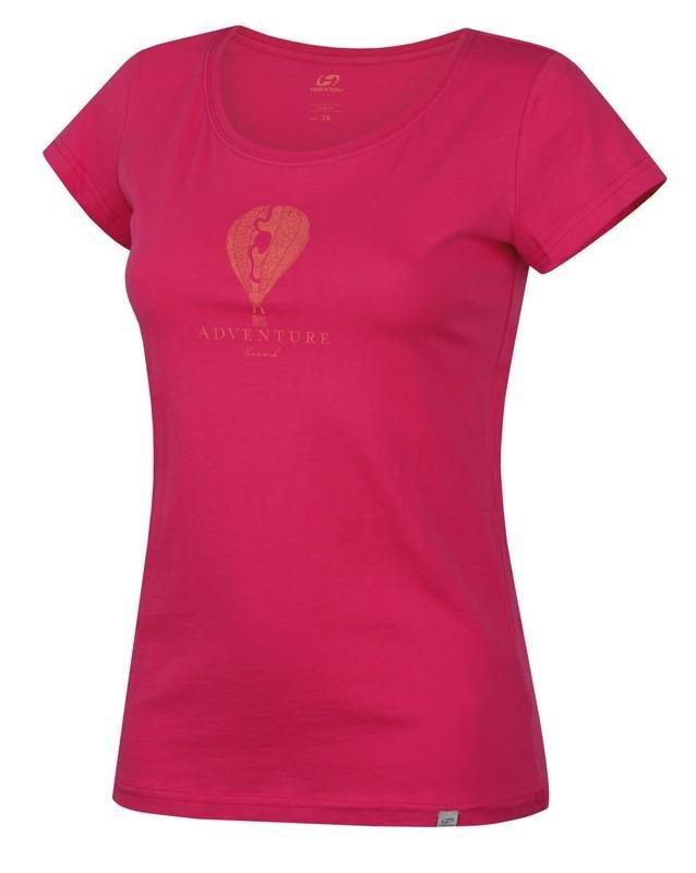Růžové dámské tričko s krátkým rukávem Hannah - velikost 34