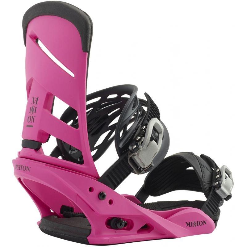 Růžové vázání na snowboard Burton